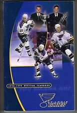 1998/99 St Louis Blues NHL Hockey Yearbook Media GUIDE