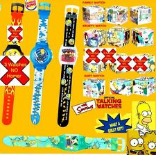 Burger King Simpsons 3 Watch set 2002 Bart,Krusty,Family Drive, 3 sealed new FS