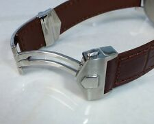 20mm BROWN COLOR Carrera Monaco Band Strap Alligator-Style w/Clasp for TAG Heuer