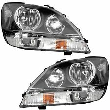 FLEETWOOD REVOLUTION 2009 2010 2011-2013 BLACK PAIR HEADLIGHTS HEAD LIGHTS RV
