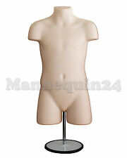 CHILD BODY MANNEQUIN FORM FLESH w/METAL STAND +HANGING HOOK KIDS DISPLAY