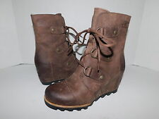 SOREL 'Joan of Arctic' Waterproof Wedge Winter Snow Boot (Women) Brown sz 6.5