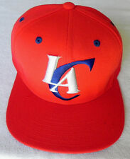 LOS ANGELES CLIPPERS NBA ALL RED VINTAGE SNAPBACK ADIDAS CAP HAT NEW!