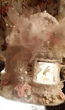 Pink Christmas Village Victorian Village Pink Candy Roses Pearls Shabby Chic