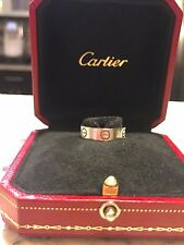18K Cartier Love Ring White Gold Size 6 in Cartier jewelry box