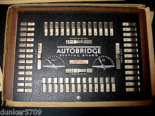 1938 1944 AUTOBRIDGE PLAYING BOARD WITH ACCESSORIES ORIGINAL BOX ELY CULBERTSON