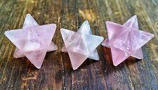 Rose Quartz Merkaba Star ~ For Crystal Healing , Reiki , Chakra grid ~ SU15