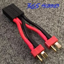 QTY-(1) 2-Male Deans to 1-Female Traxxas TRX Parallel Connector Adapter Slash