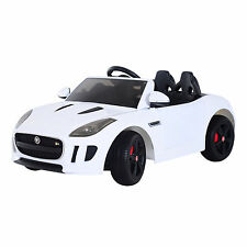 Jaguar F-TYPE 12V Kids Ride On Car Electric Toy Battery Remote Control MP3 White