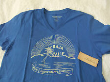 RALPH LAUREN DENIM&SUPPLY ROYAL BLUE V NECK T-SHIRT BNWT SIZE M ..JEANS/SHORTS