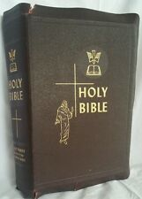 Vintage 1950 Leather Catholic Family Edition Holy Bible