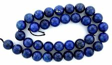 11.5mm Round Medium Dark Lapis lazuli Gem Gemstone Bead 15 Inch Strand Natural