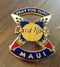 Hard Rock Cafe Maui Pray for Surf Crossed Surfboards Pin