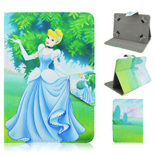 "Universal Princess Design PU Leather Flip Stand Cover Case For 7""inch Tablets PC"