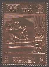 Yemen Kgr 1969 ** Mi.914 A Olympic Games Olympische Spiele, Gold Foil, Horse