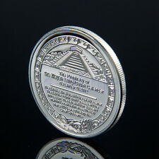 Sliver Plated Aztec Mayan Calendar Commemorative Coin Souvenir Collection HM