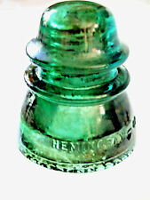 Antique Hemingray 42 Glass Insulator, Teal color, Fang Drip Model, made in USA