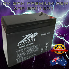 HEAVY DUTY 12V 9AH AGM DEEP CYCLE ZAP BATTERY  Generator, Solar, Scooter, UPS