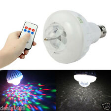Wireless Remote Control Light Bulb Music Audio Speaker Sound Stage LED Lamp E27