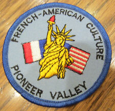Girl Scouts Vintage Uniform Patch French American Culture Pioneer Valley