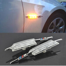 2XBMW ///M Power 6 LED M Power Fender Side Marker Turn Signal Indicator