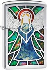Zippo Windproof Stained Glass Angel Lighter, Choice Collection 28967, New In Box