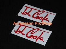"""4x 3.5""""8.9cm John Cooper signature decal sticker classic Mini Austin Morris GB S"""