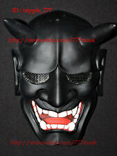 AIRSOFT BB GUN COSTUME WALL HANGING EVIL DEMON SAMURAI HANNYA KABUKI MASK MA119