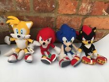 "Official Sonic 10"" Plush Toys Collection Set Of 4 - Sonic Knuckles Shadow Tails"