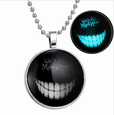 Fashion Punk Style Smile Glow in the Dark Stainless Steel Necklace Pendant