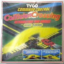 1980 TYCO TCR Slot less Car Command Control COLLISION CROSSING TRACK SET #6436
