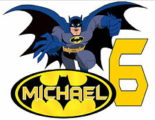 BATMAN HAPPY BIRTHDAY T-SHIRT Personalized Any Name/Age Toddler to Adult