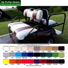 E-Z-Go TXT Golf Cart Custom Seat Cover Set - 2 STRIPE STAPLE ON