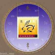 Canada Stamps -Souvenir sheet -Lunar New Year -Year of the Rabbit #1768 -MNH