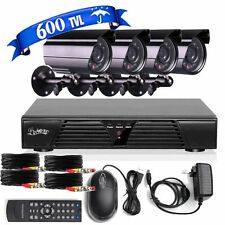 8CH Network DVR 4 Outdoor Night Vision 600TVL Home CCTV Security Camera System
