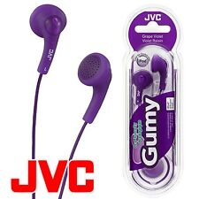 JVC Gumy Gummy HA-F150 In-Ear Canal Earbuds Headphones Earphones Grape Violet