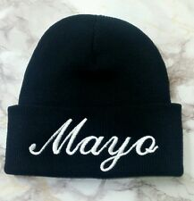 New Quality Mayo Embroidery Funny Blank Black Long Skull Beanie Winter Hat