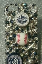 San Diego Padres MLB bling case iPhone 4s,5,5s,5c,6,Samsung Galaxy S3,S4&S5