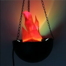 LED Hanging Fake Flame Lamp Torch Light Fire Pot Bowl Halloween Prop Decor #JK