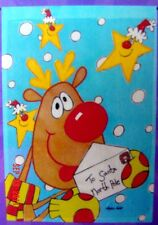 "small Applique Letter to Santa ~ Reindeer Christmas Garden Flag (12.5"" x 18"")"