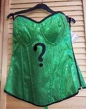 Womens Sexy DC Riddler Sequin Corset Costume Size L NEW Free Shipping