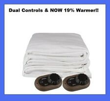 New Sunbeam King Size Heated Mattress Pad with Dual Controllers