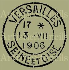 STENCIL Vintage French Versailles Postage Stamp  10x10