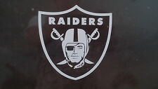 Oakland Raiders 5 x 5 White Car Decal Sticker