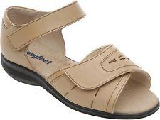 Cosyfeet Extra Roomy Skip Sandals Womens Biscuit UK 3, EEEEE+ Fitting