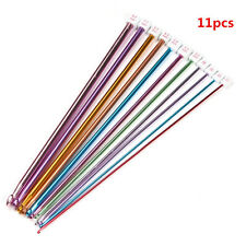 11x 10.6'' Multicolour Aluminum Tunisian Afghan Crochet Hook Knit Needles 2- 8mm