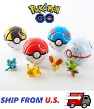 4 x Pokemon Throw Pop PokeBall Cosplay Pop-up Elf Go Fighting Poke Ball Toy USA