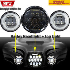 "Motorcycle 7"" LED Projector Daymaker Headlight Passing Lights For Harley Touring"