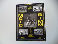 advertising Pubblicità 1972 MOTO BIMM CROSS P4 50/BILLO - E/Z M - P/3 T