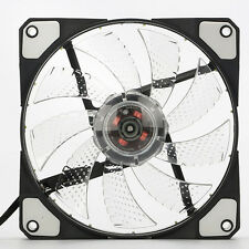 3-Pin/4-Pin 120mm PC Computer Case CPU Cooler Cooling Fan with 15-LED Light NEW